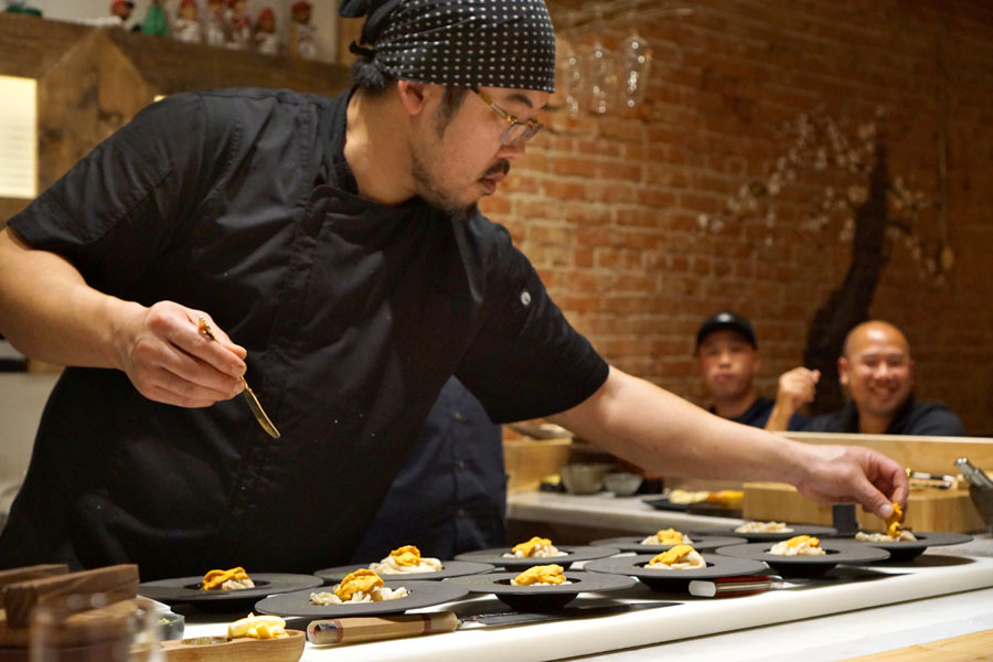 Gino Choi Preparing Pasta