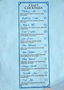 Cevichería Nais Cocktail List