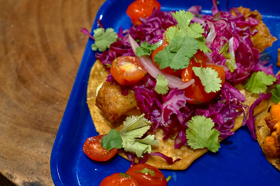 Baja Fried Cod Taco