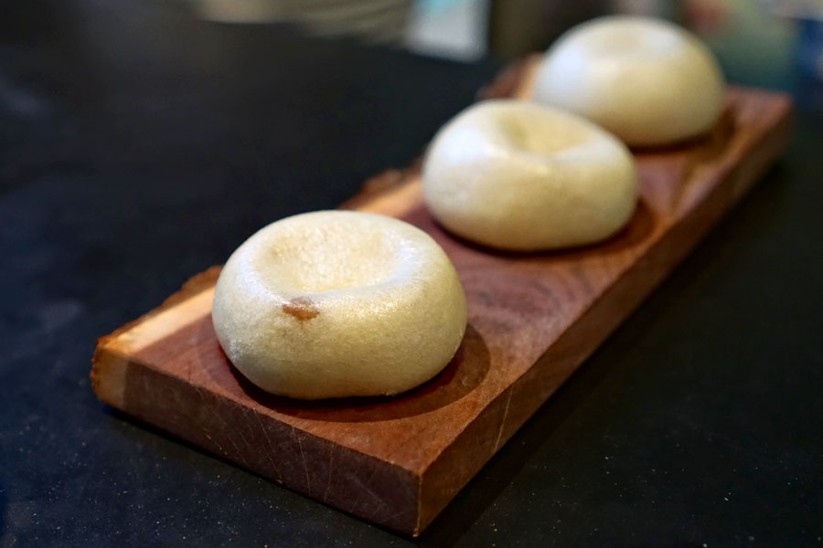 Gaggan, Bangkok, Cheese Porcini Pav