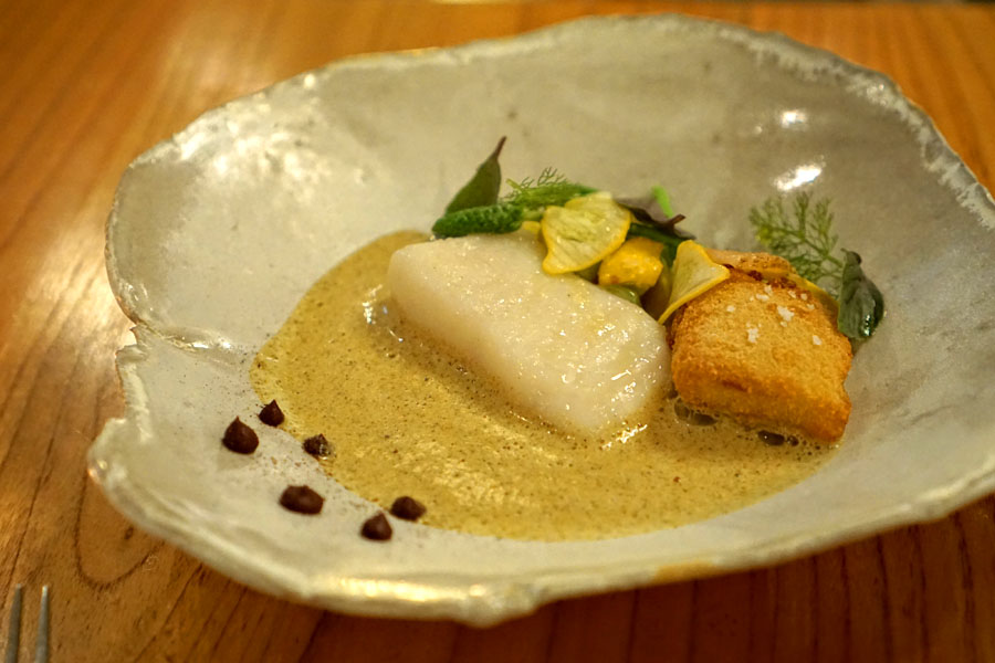 Oil Poached Halibut