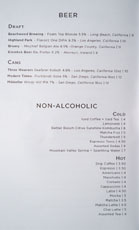Firehouse Hotel Beer & Beverage List