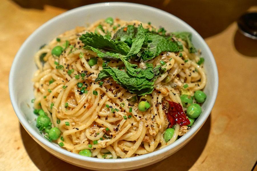 Garlic Crab Spaghetti