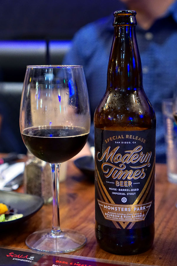 2018 Modern Times Monsters' Park Aged in Bourbon & Rum Barrels with Cocoa Nibs, Coffee, & Vanilla