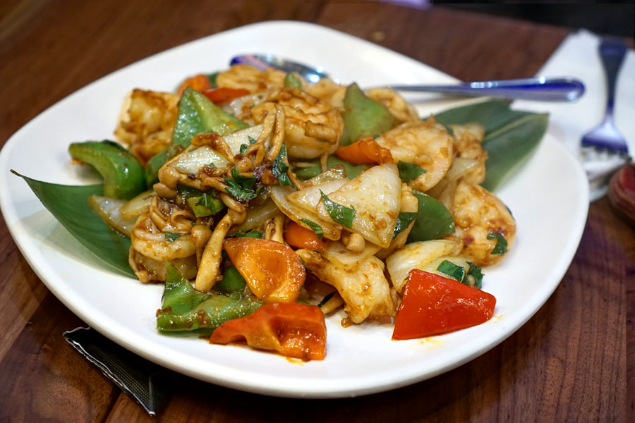 Basil Shrimp Stir Fry