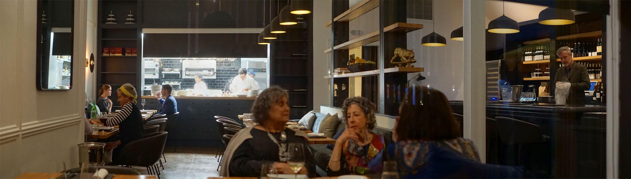 Peeking Into Kass Wine Bar + Restaurant Dining Room