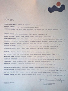Yours Truly Menu