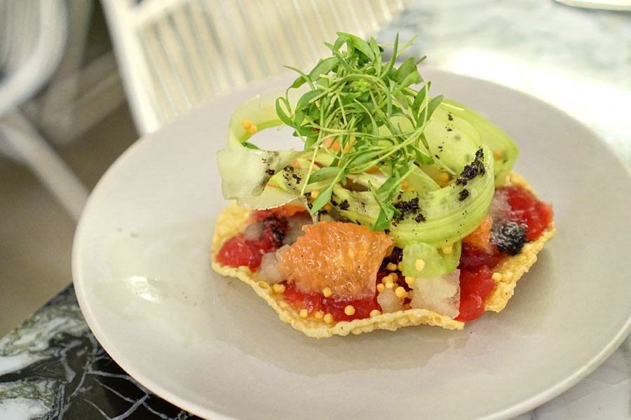 Yellowfin Tuna Tostada