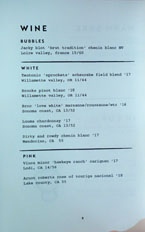 Ototo Wine List: Bubbles / White / Pink