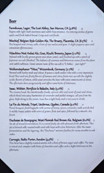 Journeyman's Food & Drink Beer List
