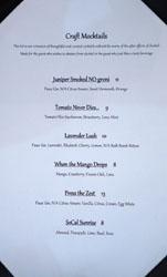 Journeyman's Food & Drink Mocktail List