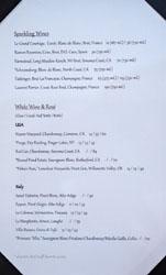 Journeyman's Food & Drink Wine List: Sparkling Wines, White Wine & Rosé