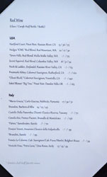 Journeyman's Food & Drink Wine List: Red Wine