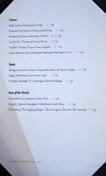 Journeyman's Food & Drink Wine List: Red Wine