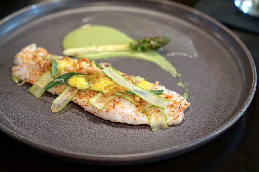 Branzino 'sans Bearnaise,' & Asparagus