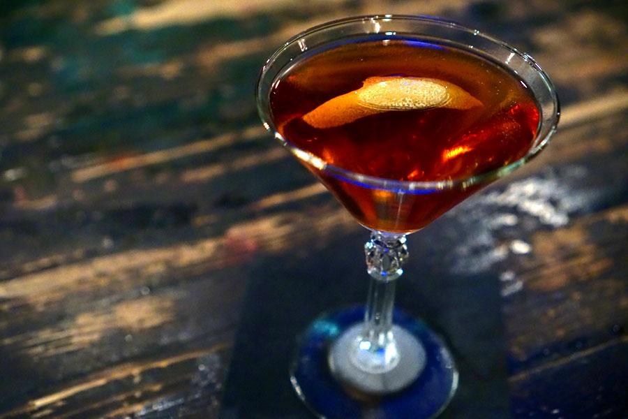 Vieux Carr'e, rye, Cognac, Benedictine, sweet vermouth, Angostura bitters, Peychauds bitters
