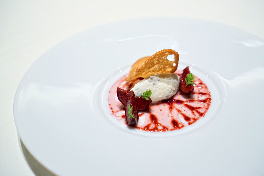 Fromage Frais, Cherry and Herbs