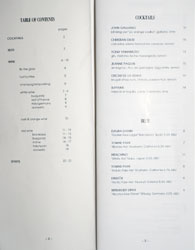 Knife Pleat Cocktail & Beer List