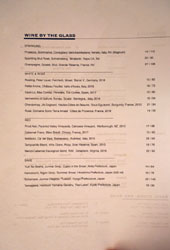 Gravitas Wines by the Glass List