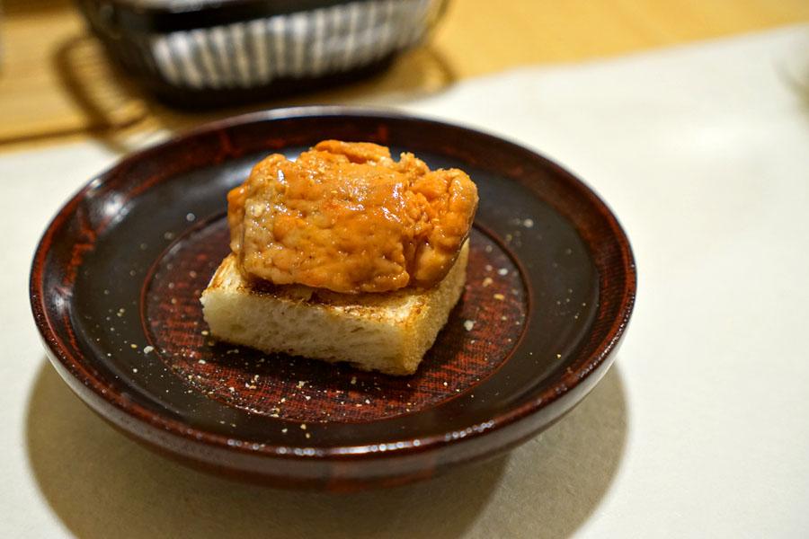 Ankimo Toast