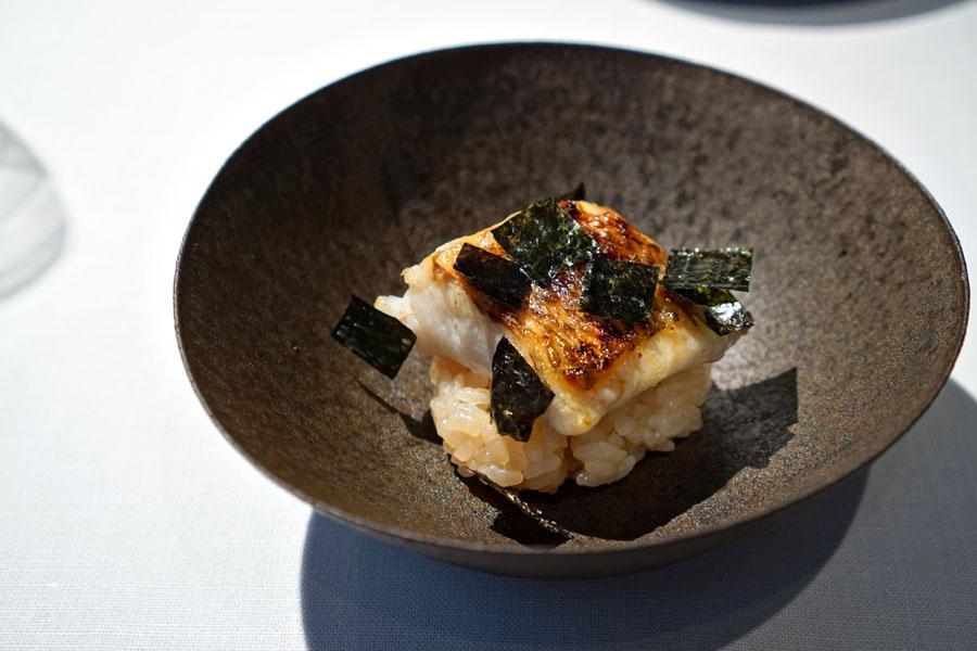 Rosy Seabass, Ishikawa • Rice, Kyoto