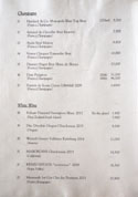 Oniku Karyu Champagne & White Wine List