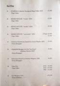 Oniku Karyu Red Wine List