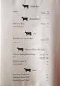 Oniku Karyu Beer, Tea & Soft Drinks List