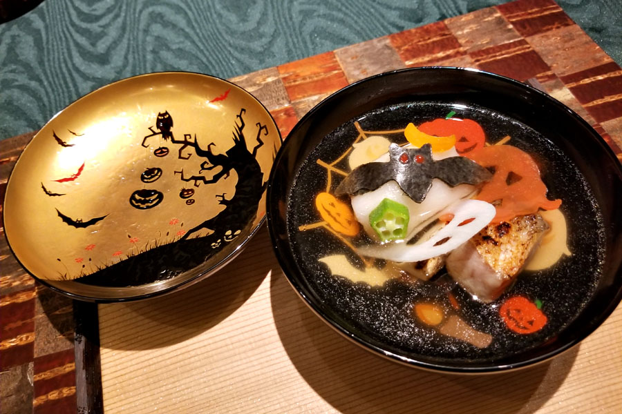 Kuruma Prawn, Grilled Tilefish, Yuzu