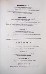 Jeune et Jolie Cocktail & Mocktail List