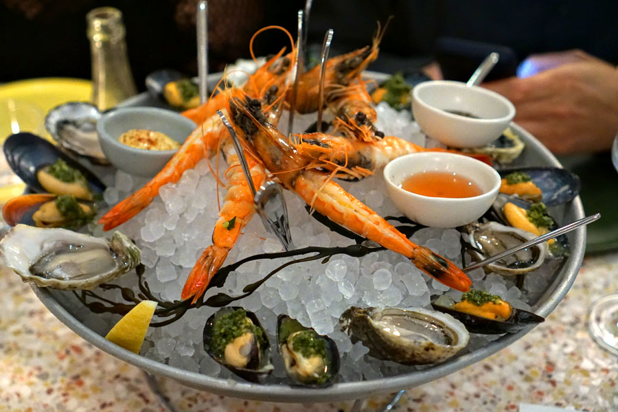 Blue Prawns + Oysters + Mussels