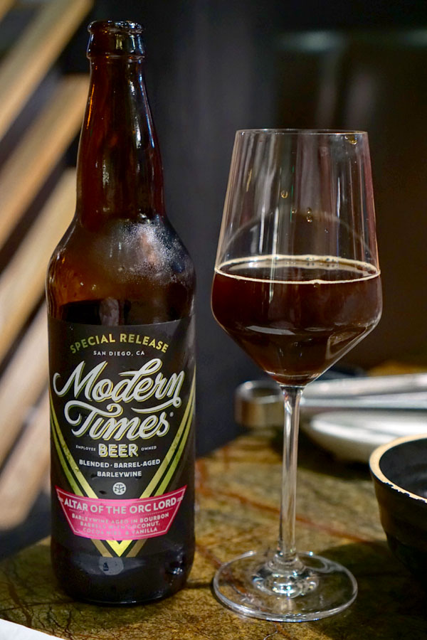 2018 Modern Times Altar of the Orc Lord Aged in Bourbon Barrels with Coconut, Cocoa Nibs, & Vanilla