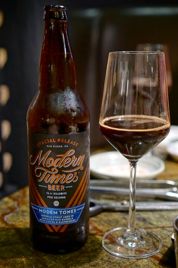 2018 Modern Times Modem Tones Aged in Jamaican Rum Barrels with Cocoa & Raspberries