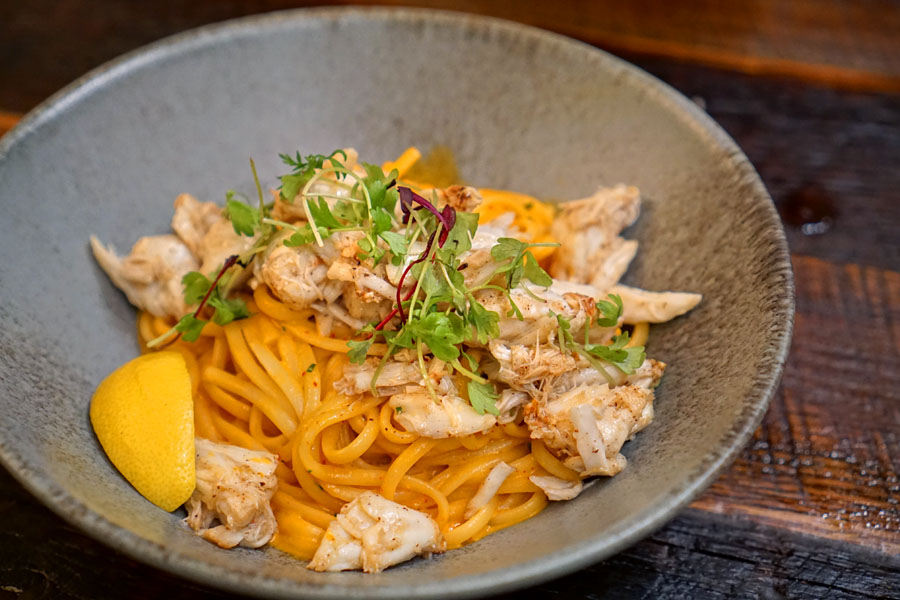 Salted Egg Yolk Crab Pasta
