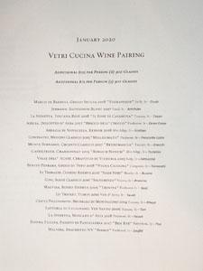 Vetri Cucina Wine Pairing