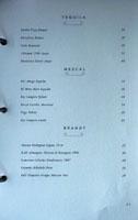 Angler Spirits List: Tequila, Mezcal, Brandy
