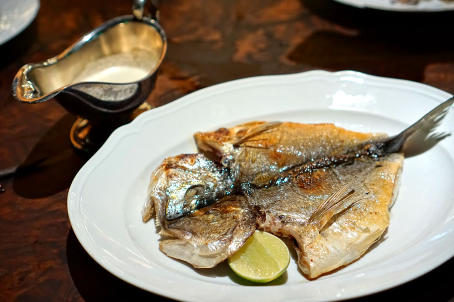 Whole Grilled Porgy