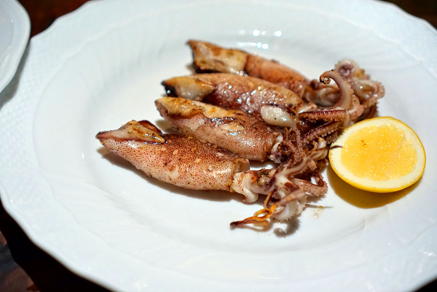 Grilled Santa Barbara Squid