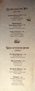 Strong Water (Juniper Merchant) Cocktail List: Low-ABV, Stirred