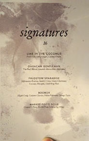 Piccalilli Cocktail List: Signatures