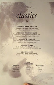 Piccalilli Cocktail List: Classics