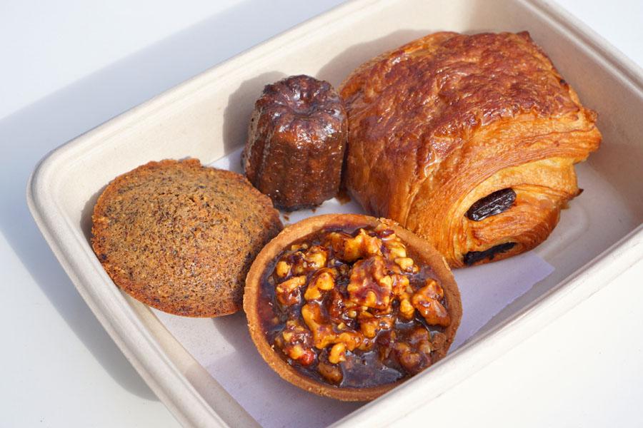 Red Walnut Tart / Hazelnut Financier / Canelé / Chocolate Croissant