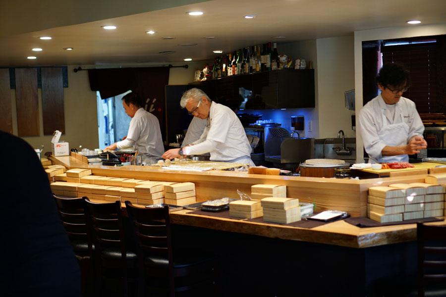 Sushi Chefs at Work at Shunji
