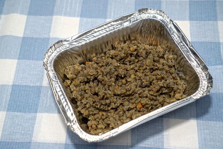 braised green lentils