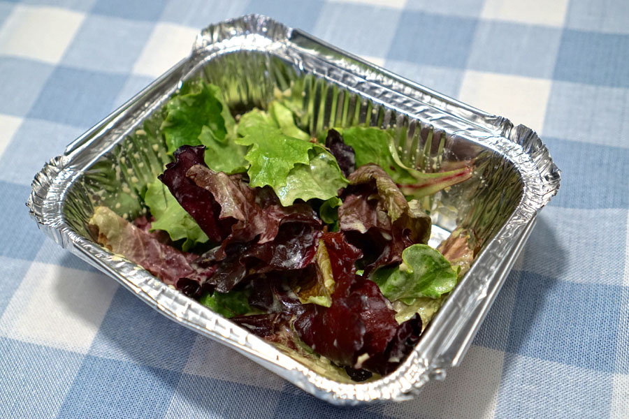 market greens with dijon vinaigrette