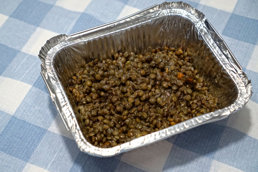 braised green lentils (Cooked)