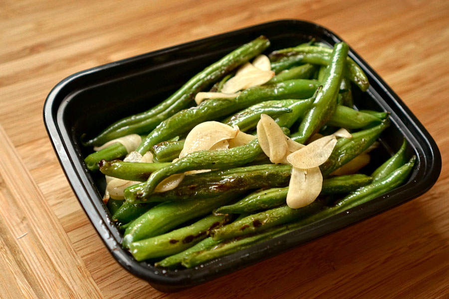 Blistered Blue Lake Green Beans with Slivered Garlic