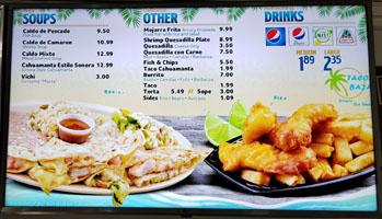 Tacos Baja Menu: Soups, Other, Drinks