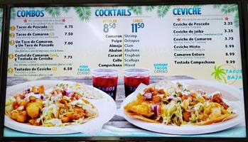 Tacos Baja Menu: Combos, Cocktails, Ceviche