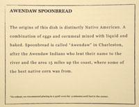 Vespertine Low Country To-Go Menu: Spoonbread
